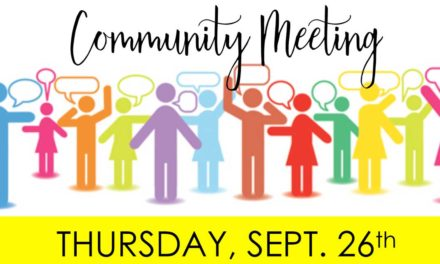 Community Meeting on homelessness, crime & drugs will be Thurs., Sept. 26