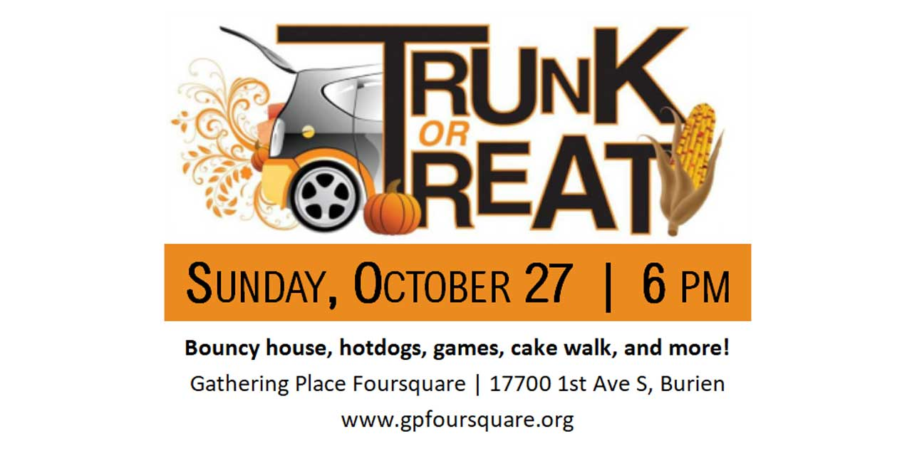 'Trunk or Treat' will be Sunday, Oct. 27 at Gathering Place Foursquare Church