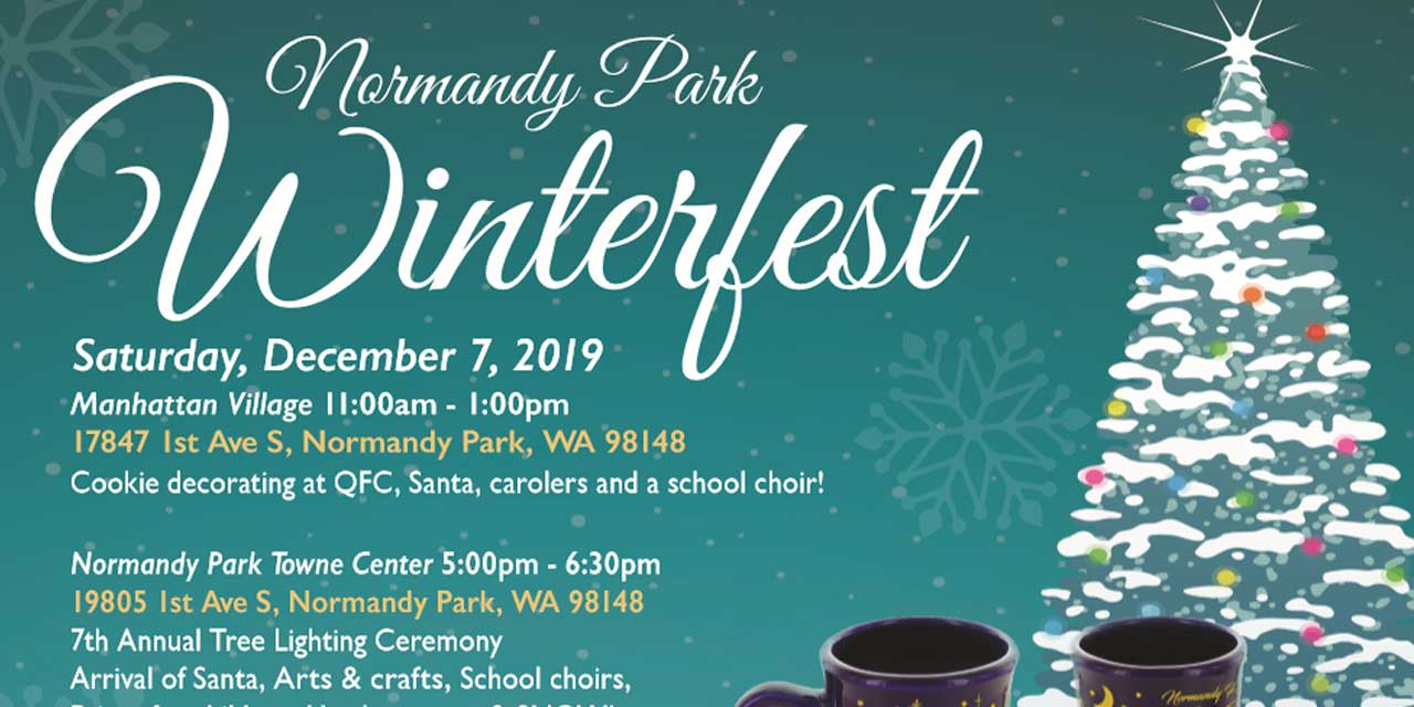 SAVE THE DATE: Winterfest & Tree Lighting Ceremony will be Sat., Dec. 7