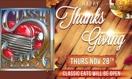 Classic Eats offering festive non-traditional menu this Thanksgiving Day–RSVP NOW!