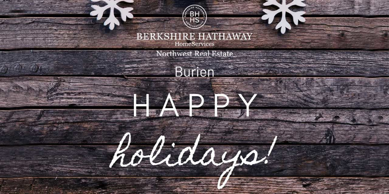 Happy Holidays From Real Estate Sponsor Berkshire Hathaway Homeservices Nw The Normandy Park Blog