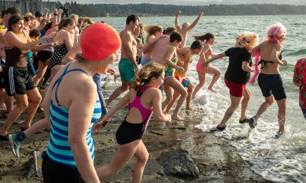 VIDEOS/PHOTOS: Over 60 hearty souls dive into 2020 at Polar Bear Plunge