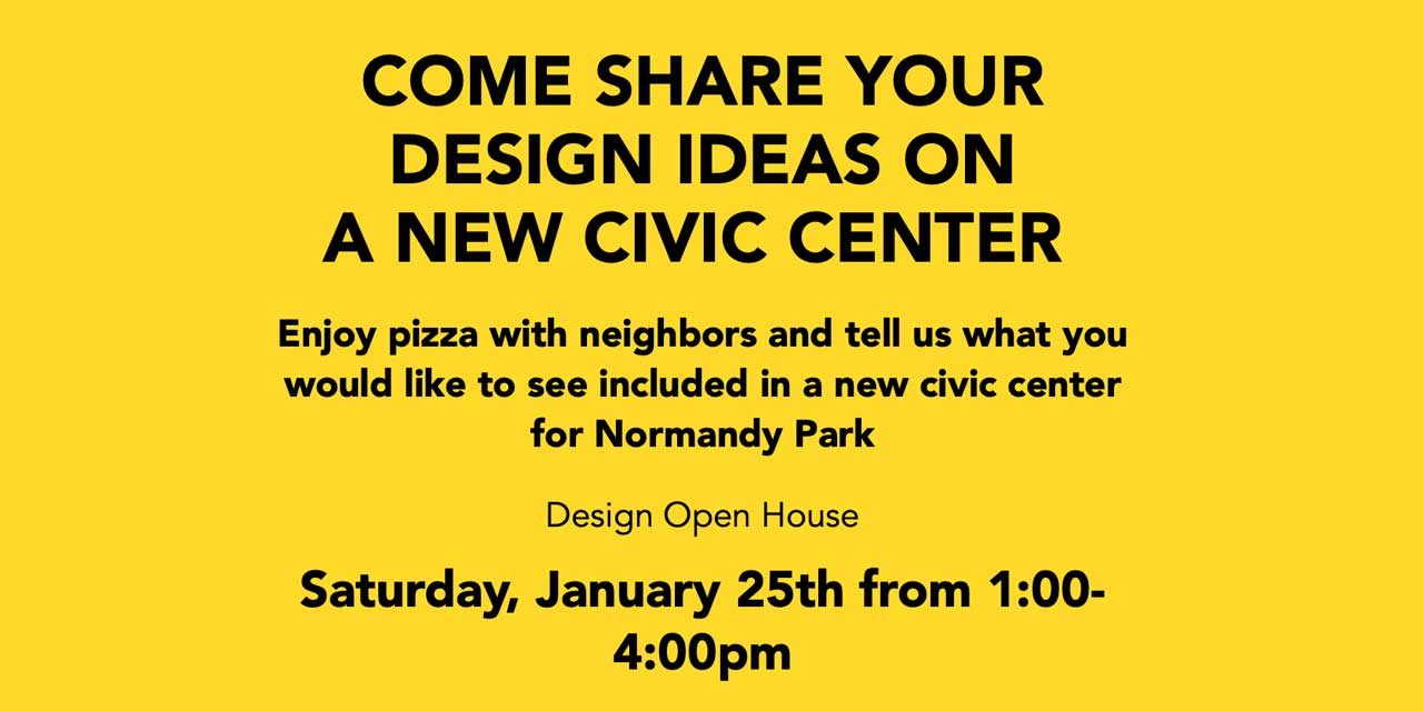 Design Open House for new Normandy Park Civic Center will be this Sat., Jan. 25