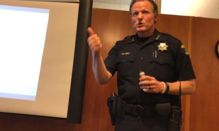 VIDEO: Watch Police Chief Ted Boe speak about crime at 'Highline Good Neighbors' meeting