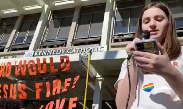 VIDEO: Students walk out of Kennedy Catholic High to protest teacher 'resignations'