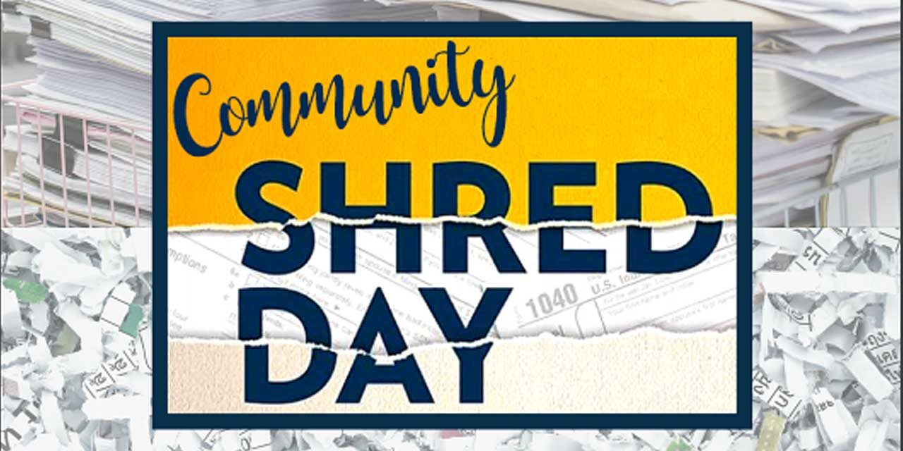 Sunrise Financial Services annual Community Shred Day will be Sat., June 27