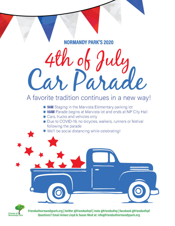 Celebrate the 4th of July safely at the Normandy Park Car Parade 1