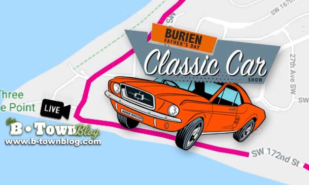 Map released for Sunday's Father's Day Car Show Cruise, which starts in Normandy Park