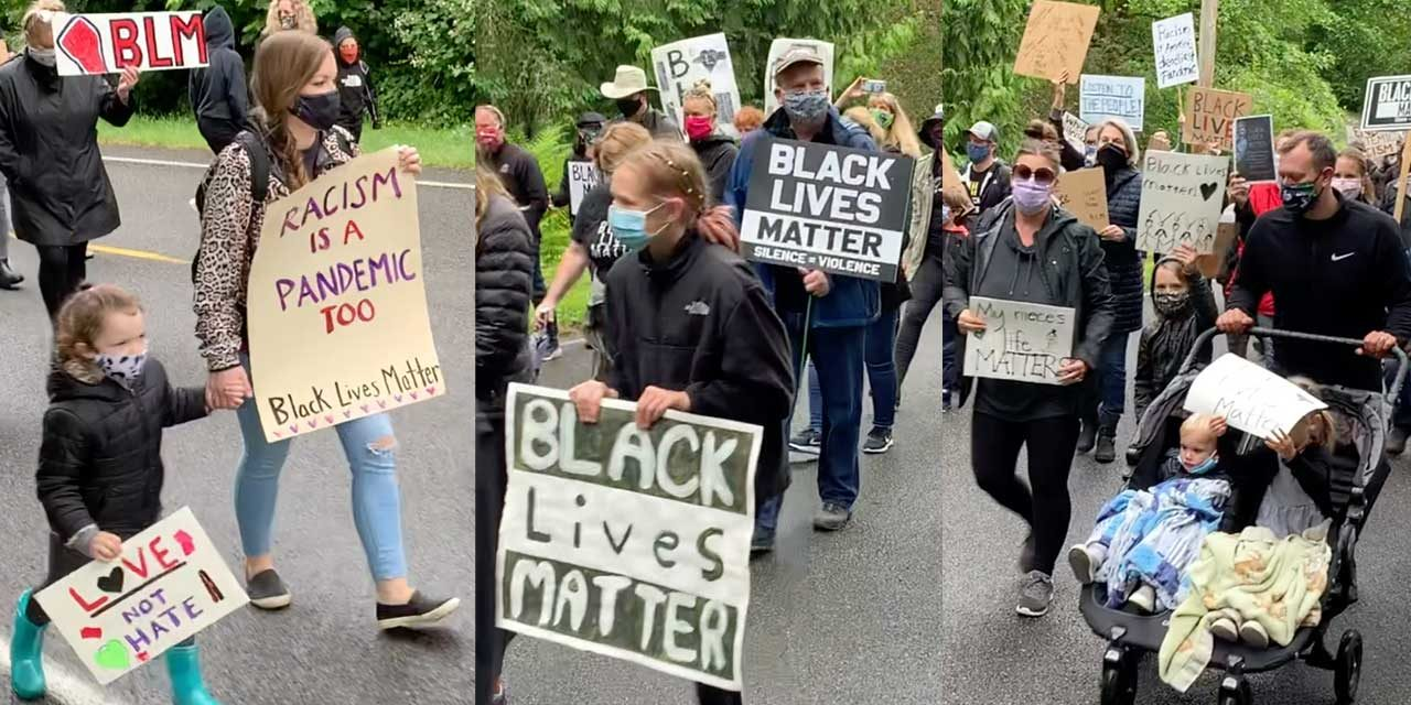 VIDEO: Around 1,000 turn out for Friday's Normandy Park Black Lives Matter Silent March