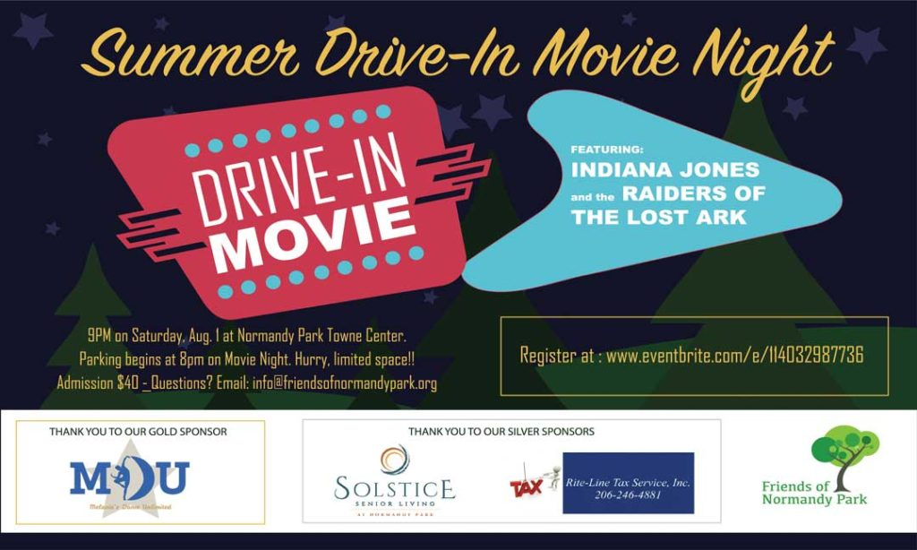 Summer Drive-In Movie Night coming to Normandy Park Towne Center Aug. 1 1