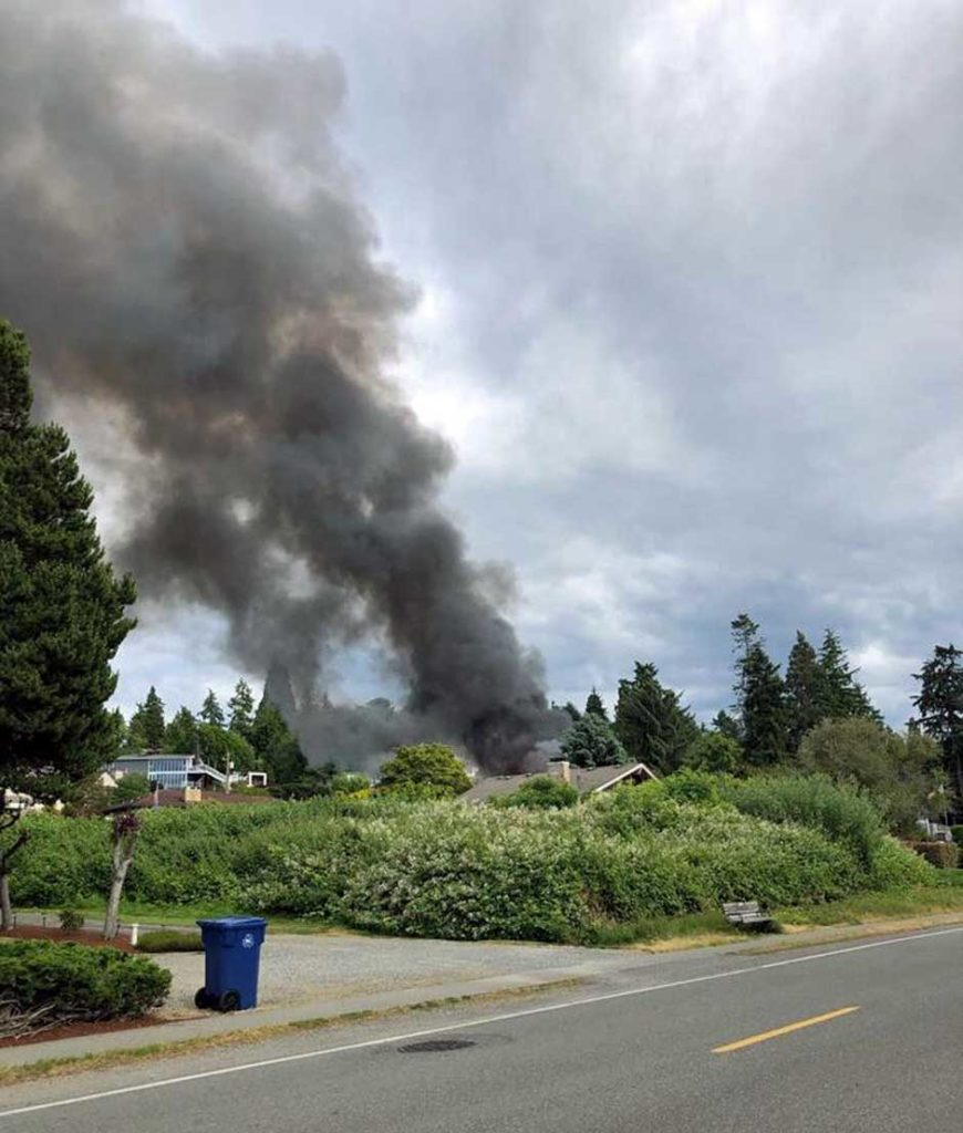 Fire burns home in Normandy Park Tuesday afternoon 2