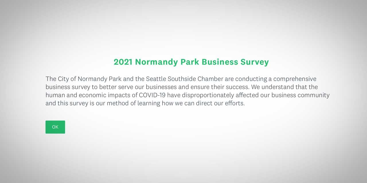Business owners urged to take 2021 Normandy Park Business Survey